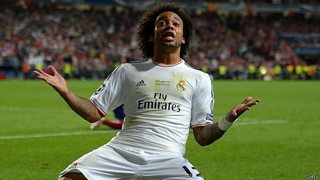 Marcelo celebra su gol
