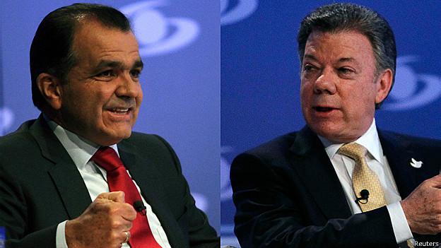 Óscar Iván Zuluaga y Juan Manuel Santos