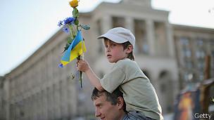 Nino ucraniano en Kiev