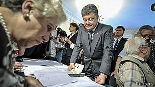 Poroshenko votando