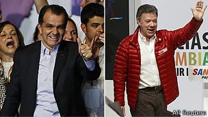 Santos e Zuluaga (AP/Reuters)