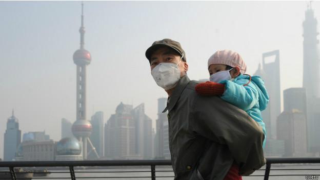 Smog en Shangháai