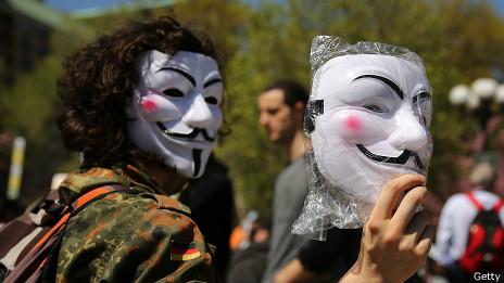 Máscaras de Anonymous