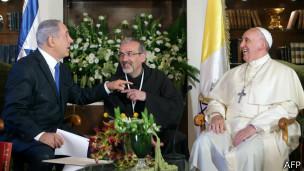 Benjamin Netanyahu con el papa Francisco