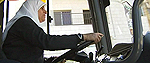 Palestinian female bus driver, Najlaa Asia