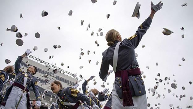 graduandos en West Point