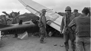 Avión estadounidense derrumbado durante la ofensiva Tet.