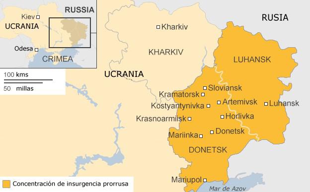 Mapa de Donetsk