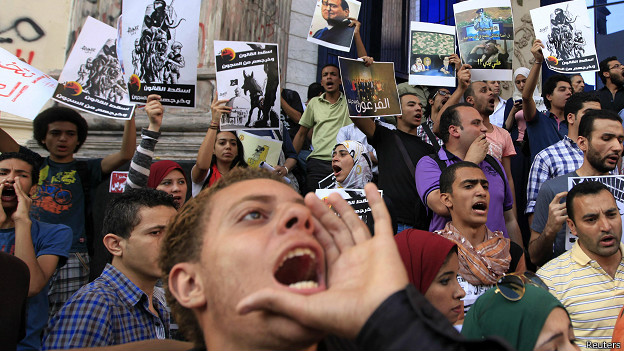 Protesta contra Al-Sisi en Egipto.