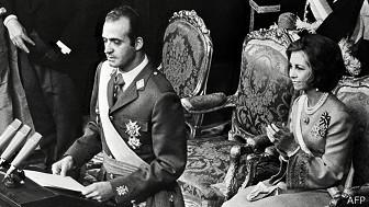 Juan Carlos en el momento de su juramentación