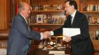 Juan Carlos e Mariano Rajoy nesta segunda-feira (fogo: divulgação)