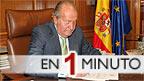 El rey Juan Carlos escribiendo la carta de abdicación