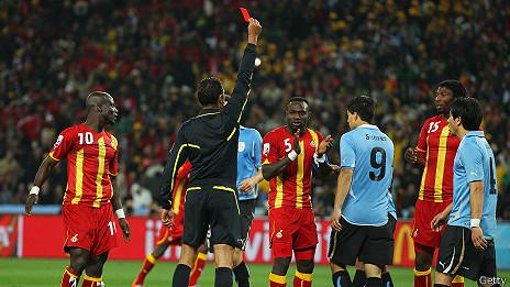 Expulsión de Luis Suárez contra Ghana en Sudáfrica 2010