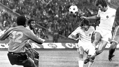 Zaire vs Yugoslavia en 1974
