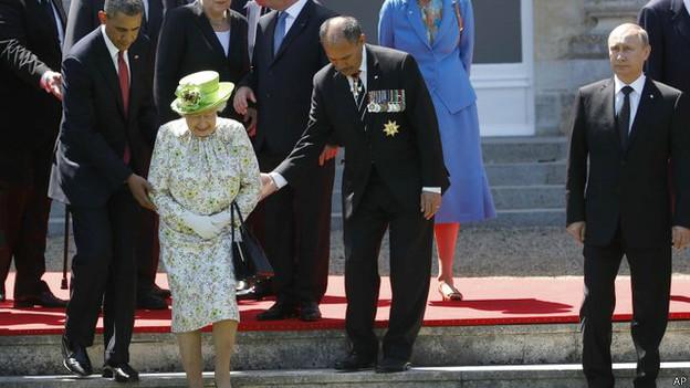 Мировые лидеры в Нормандии 6 июня 2014 года