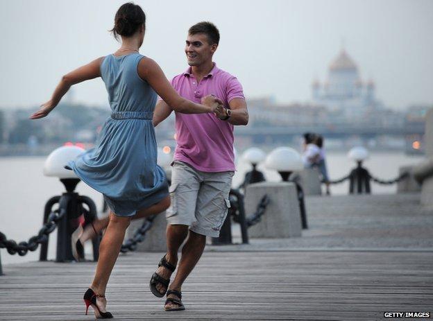 Rusos bailando