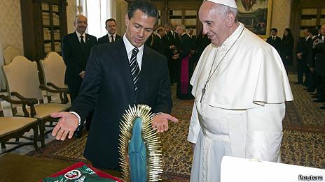 Presidente de México y papa Francisco