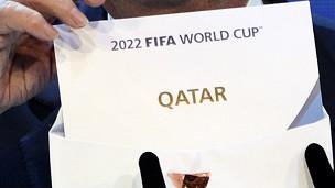 Anúncio do Catar como país-seda da Copa de 2022 (AFP)