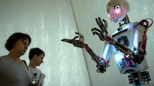 На выставке роботов в Москве