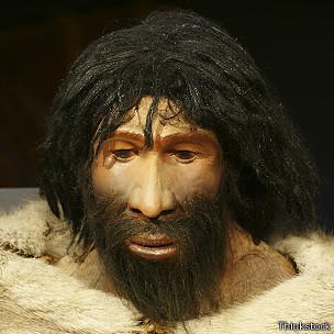 Representación de un hombre de Neanderthal