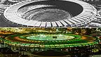 Estadio Maracaná en 1949 y en 2014