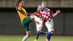 Luka Modric, meia da Croácia, em ação no amistoso contra a Austrália