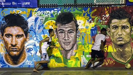 Mural en una favela de Río de Janeiro