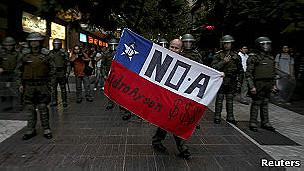 Protesta contra HidroAysén