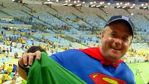 Glynn Davies no Maracanã, no ano passado (Arquivo pessoal)
