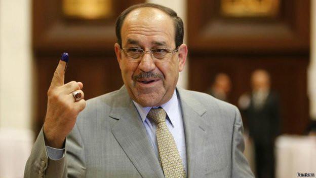 Nuri al Maliki tras votar