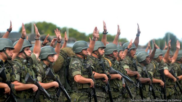 Militares em estado de alerta para a Copa do Mundo (foto: Tereza Sobreira/Ministério da Defesa 08/06/2014)
