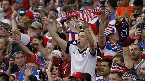 Aficionados al futbol en EEUU
