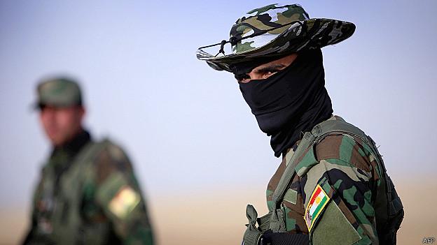 एक इराक़ी कुर्द सुरक्षा बल