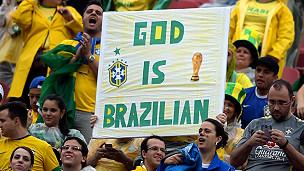 Torcedores no estádio do Morumbi no dia de Brasil x Sérvia (Foto Getty)