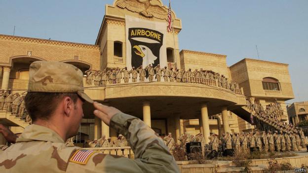 Soldados estadounidenses en Mosul