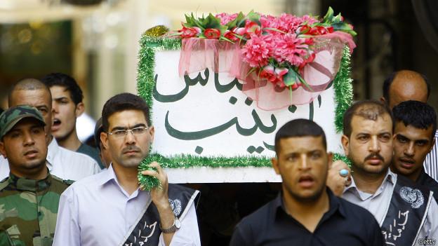 Entierro en la comunidad chiita de Irak