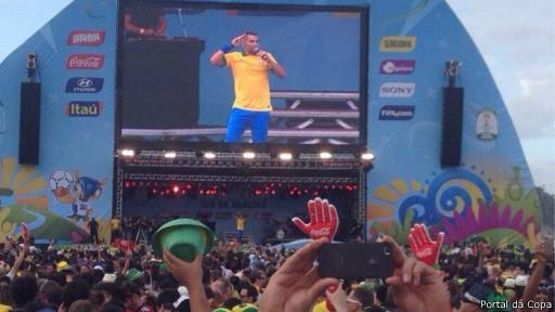 Fan fest no Rio (Portal da Copa)