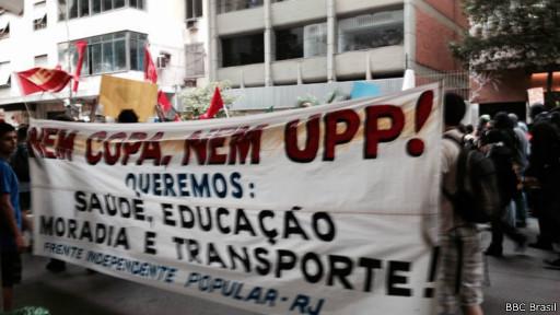 Protesto no Rio (BBC Brasil)