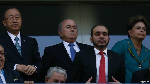 Rousseff, Ban Ki-moon, Blatter (Reuters)