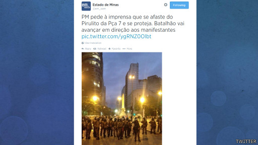 Protestos em Belo Horizonte (Twitter)