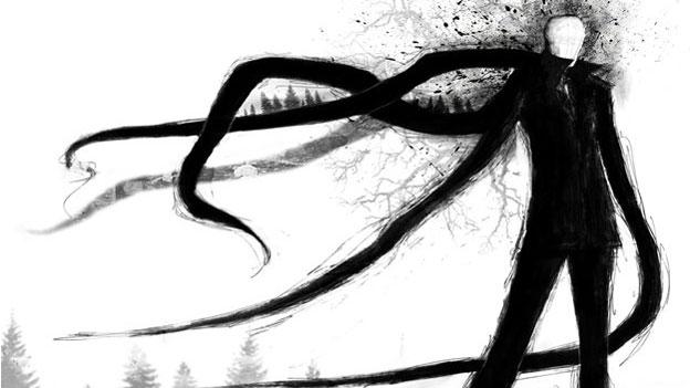 Slender Man. Crédito: Dave Dick Illustration