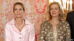 Infantas Elena (izq.) y Cristina
