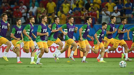 Selección de Australia entrenando