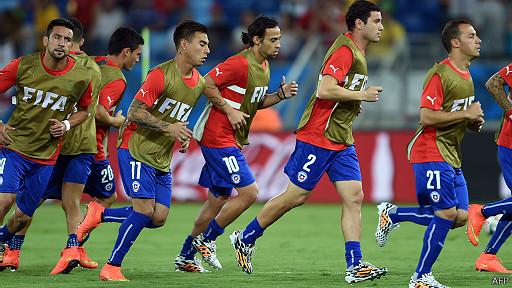 Selección chilena entrenando