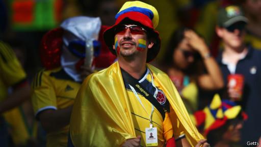 Aficionado colombiano en Brasil 2014