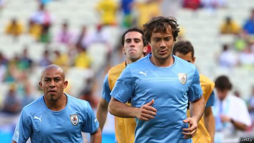 Diego Lugano, futbolista uruguayo, en un entrenamiento
