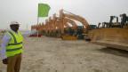 Local de construção de estádio no Catar (foto: AFP)