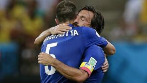 Itália comemora vitória (AP)