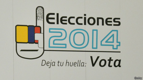 Pancarta electoral en Colombia