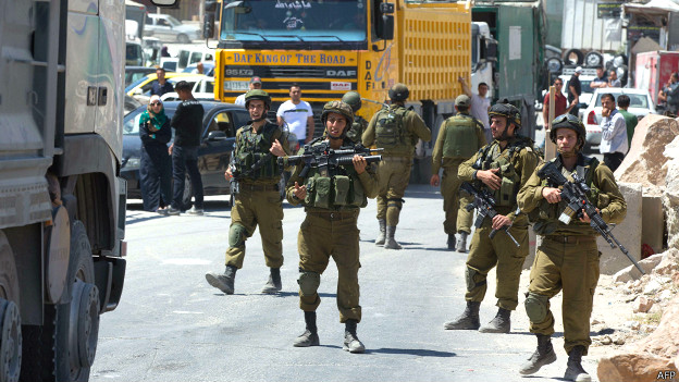 Пост израильских военных в Хевроне